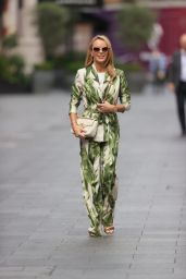 Amanda Holden in a Floral Jumpsuit in London 09/23/2021