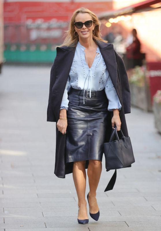 Amanda Holden - Leaving Global Studios in London 09/29/2021