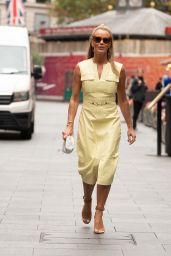 Amanda Holden Wears Lemon Yellow Dress - London 09/15/2021
