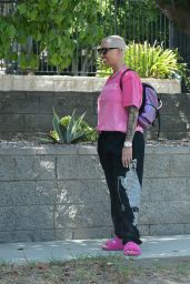 Amber Rose Street Style - Los Angeles 09/17/2021