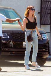 Ashley Benson With Singer Justin Thorne in Studio City 09/07/2021