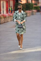Ashley Roberts in a Bright Flared Floral Dress - London 09/21/2021