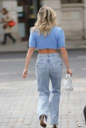 Ashley Roberts in a Crochet Knitted Top and Denim - London 09/28/2021