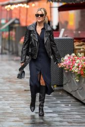 Ashley Roberts in a High Split Comfy Dress - London 09/27/2021
