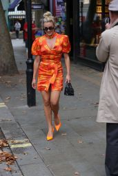 Ashley Roberts Wears Striking Orange Mini Dress - London 09/20/2021