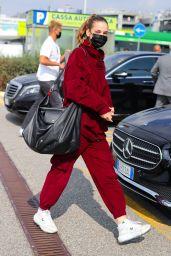 Barbara Palvin - Arriving in Milan 09/22/2021