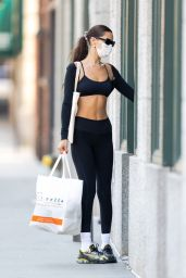 Bella Hadid in Gym Ready Outfit - New York 09/06/2021