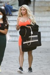 Bianca Gascoigne - Arriving at DWTS Rehearsals in Rome 09/24/2021