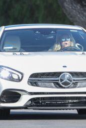 Britney Spears in Her Mercedes-AMG SL 63 in Calabasas 09/01/2021