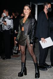 Camila Coelho – Arriving to the Versace Fashion Show in Milan 09/24/2021