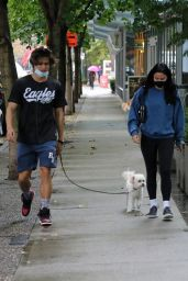 Camila Mendes and Boyfriend Charles Melton - Out in Vancouver 09/26/2021