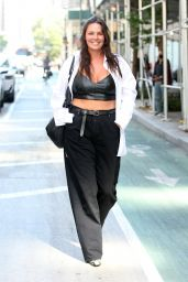 Candice Huffine Arrives at Christian Siriano Fashion Show in NY 09/07/2021