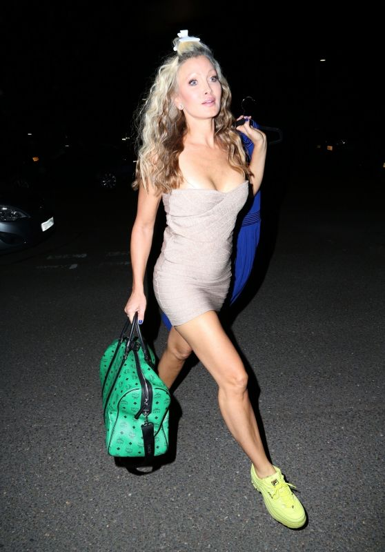Caprice Arriving at Ideal World TV in Peterborough 09/08/2021