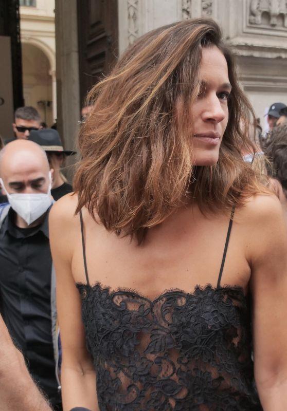 Chiara Baschetti – Ermanno Scervino Fashion Show in Milan 09/25/2021