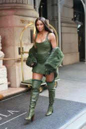 Ciara Wearing All Green 09/08/2021