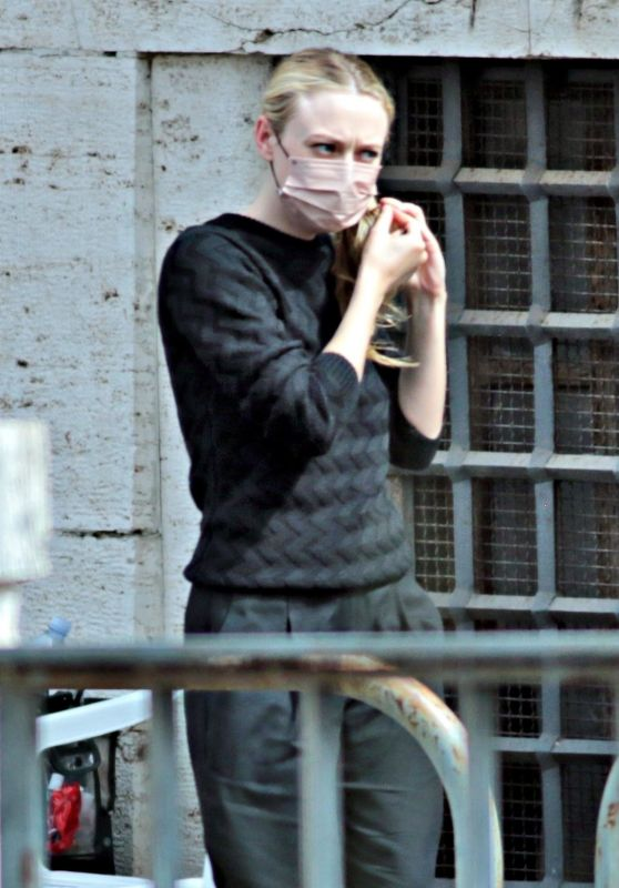 "Dakota Fanning - TV Series ""Ripley"" Set in Rome 09/15/2021"
