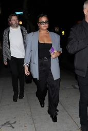 Demi Lovato at Delilah in West Hollywood 09/25/2021