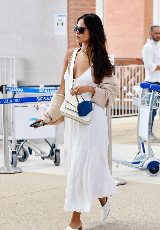 Eiza Gonzalez - Arriving at Venice Marco Polo Airport in Venice 09/02/2021
