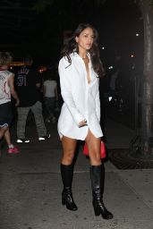 Eiza Gonzalez in an Oversized Button-up Shirt and Boots - New York 09/11/2021