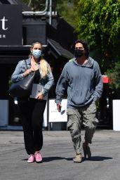 Elizabeth Berkley With Her Husband Greg Lauren - Out in Brentwood 09/09/2021