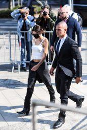 Emily Ratajkowski - Arrives at Versace Fashion Show in Milan 09/24/2021
