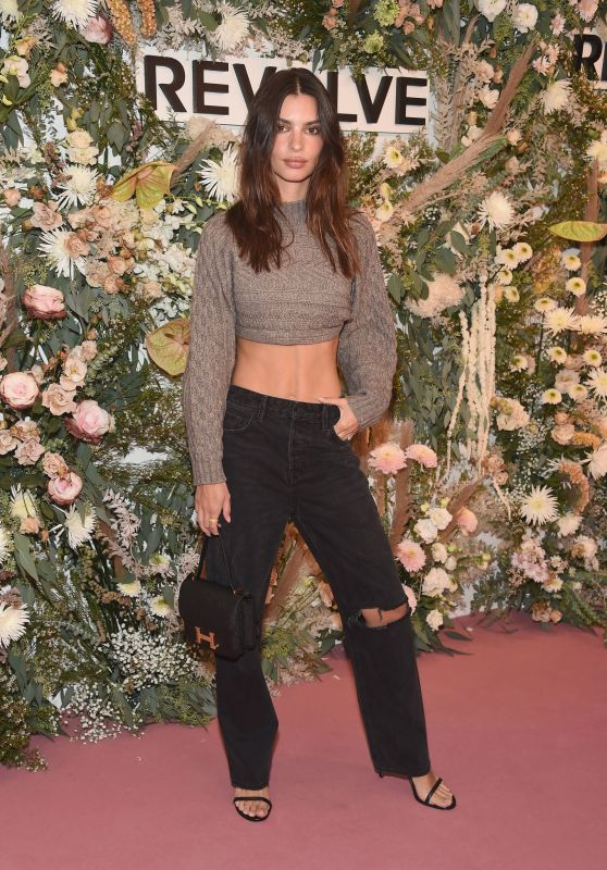 Emily Ratajkowski – REVOLVE Gallery Private Event at Hudson Yards in NYC 09/09/2021