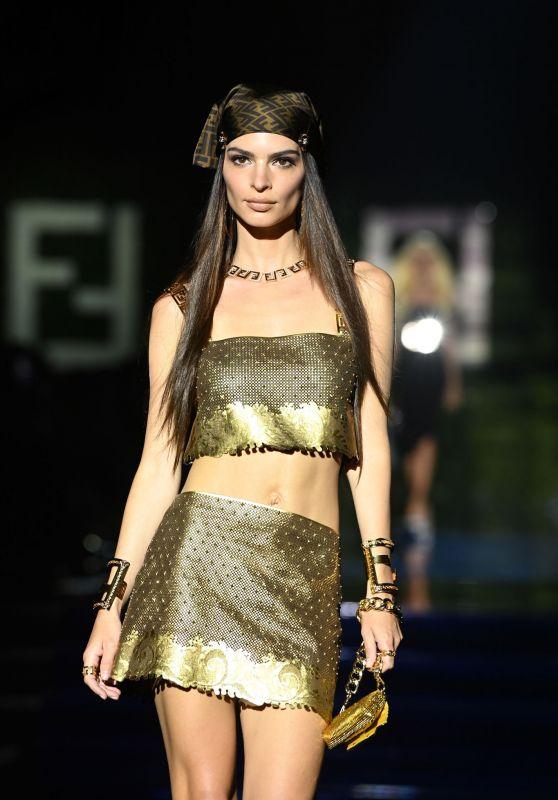 Emily Ratajkowski - Versace Special Event in Milan 09/26/2021