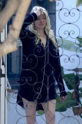 Erika Jayne in a Short Nightshirt - Los Angeles 09/12/2021