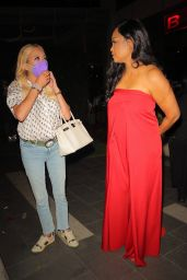 Garcelle Beauvais and Sutton Stracke at BOA Steakhouse in West Hollywood 09/10/2021
