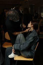 Gigi Hadid - Alberta Ferretti SS22 Backstage in Milan 09/22/2021