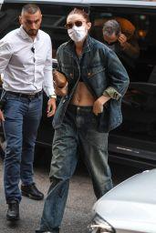 Gigi Hadid - Leaving Alberta Ferretti Show at Milan Fashion Week 09/22/2021