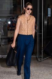 Gigi Hadid - Leaving the Altuzarra Fashion Show in NYC 09/12/2021
