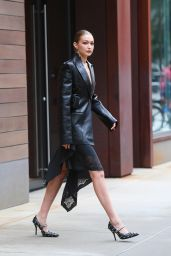 Gigi Hadid Suits Up in Leather - NYC 09/09/2021