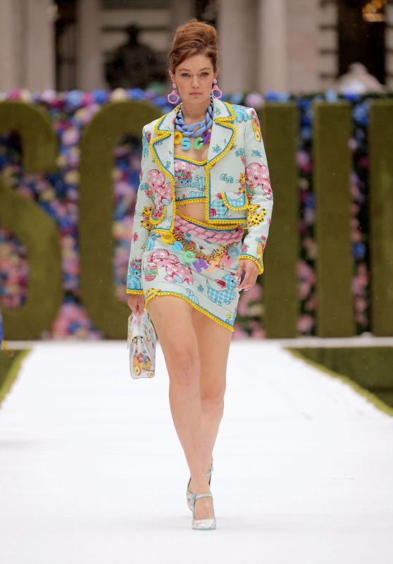 Gigi Hadid - Walks the Runway at the Moschino Show at NYFW 09/09/2021