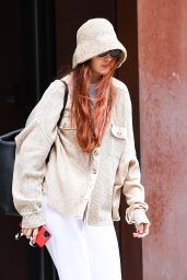 Gigi Hadid Wears a Bucket Hat - Out in NYC 09/21/2021