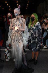 Grimes on Her Way to Met Gala in NYC 09/13/2021