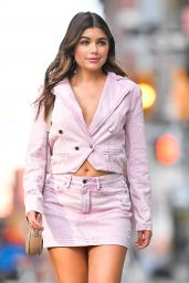 Hannah Ann Sluss in a Pink Denim Outfit - NY 09/13/2021