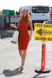 """Heather Rae Young – """"Selling Sunset"""" Filming Set at Sunset Plaza in West Hollywood 09/16/2021"""