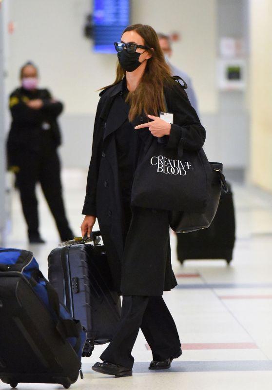 Irina Shayk at JFK Airport in New York 09/07/2021