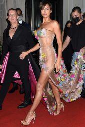 Irina Shayk – Celebrities Departing The Mark Hotel in NYC for the 2021 Met Gala