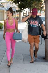 Isabel Pakzad in Bright Pink Gym Kit - Los Angeles 09/06/2021