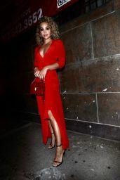 Jasmine Sanders in a Red Dress - New York City 09/08/2021