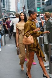 Jasmine Tookes - Arrives at the Revolve Gallery in New York 09/09/2021