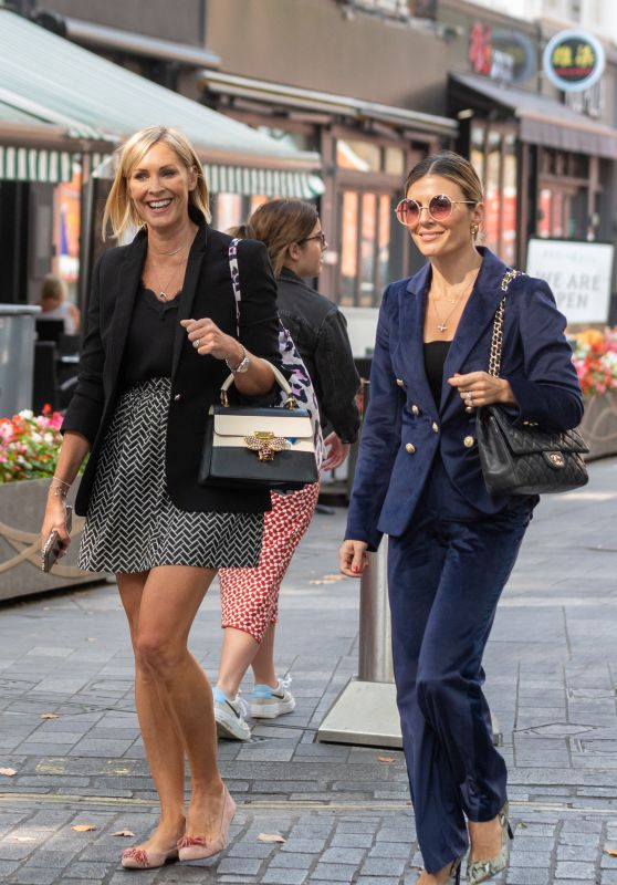 Jenni Falconer and Zoe Hardman - Out in London 09/03/2021