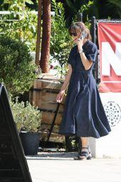 Jennifer Garner Wears Navy Dress - Pacific Palisades 09/14/2021