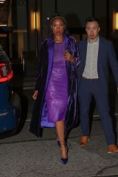 Jennifer Hudson in a Purple Outfit - New York 09/12/2021