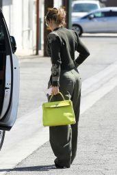 Jennifer Lopez Wears Green Ensemble - LA 09/15/2021