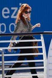 Jessica Chastain and Her Husband Gian Luca Passi de Preposulo - Airport in Venice 09/01/2021