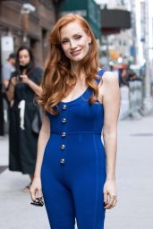 Jessica Chastain - Arrives to Late Show with Stephen Colbert Show in NY 09/15/2021