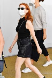Jessica Chastain in All-black - Venice 09/06/2021